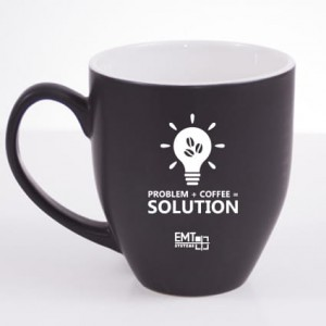 "Kubek ""PROBLEM + COFFE = SOLUTION"""